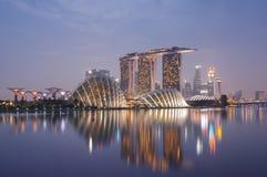 Skyline de Singapura fotos de stock