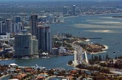 Skyline de Southport - Gold Coast Queensland Austrália Foto de Stock