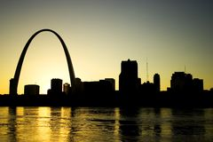 Skyline de St Louis fotos de stock