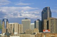 Skyline de St Paul, capital de estado do manganês imagem de stock