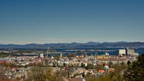 Skyline de Stavanger imagens de stock royalty free