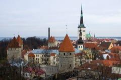 Skyline de Tallinn fotos de stock royalty free