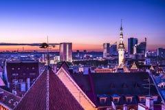 Skyline de Tallinn Estônia Imagem de Stock Royalty Free