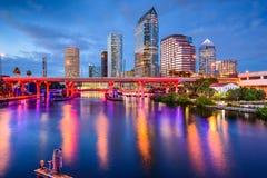 Skyline de Tampa Florida imagens de stock
