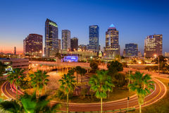 Skyline de Tampa Florida Fotos de Stock Royalty Free