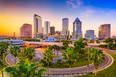Skyline de Tampa Florida Fotos de Stock