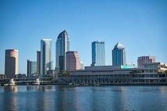 Skyline de Tampa Florida horizontal imagens de stock
