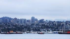 Skyline de Timelapse de Vancôver, Columbia Britânica 4K filme