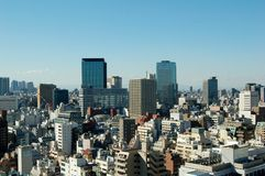 Skyline de Tokyo Imagens de Stock Royalty Free