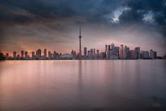 Skyline de Toronto em Ontário Canadá imagem de stock royalty free