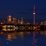 Skyline de Toronto na noite Fotografia de Stock Royalty Free