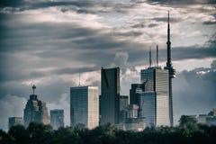 Skyline de Toronto nenhuma prata dos logotipos Imagens de Stock