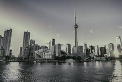 Skyline de Toronto preto e branco Fotografia de Stock Royalty Free