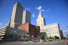Skyline de Tulsa Imagens de Stock