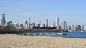 Skyline de uma praia Foto de Stock