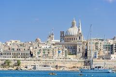 Skyline de Valletta Fotografia de Stock Royalty Free