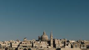 Skyline de Valletta, Malta fotos de stock