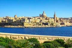 Skyline de Valletta, Malta Fotografia de Stock Royalty Free