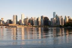 Skyline de Vancôver Fotos de Stock Royalty Free