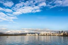Skyline de Vancôver Canadá Imagem de Stock