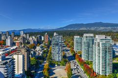 Skyline de Vancôver, Canadá imagens de stock royalty free