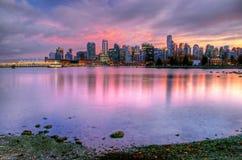 Skyline de Vancôver Fotografia de Stock Royalty Free