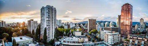 Skyline de Vancôver Imagem de Stock