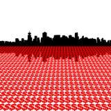 Skyline de Vancôver com dólares Imagem de Stock Royalty Free