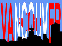 Skyline de Vancôver Imagem de Stock Royalty Free