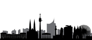 Skyline de Viena ilustração stock