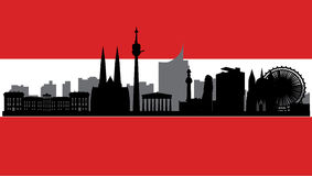 Skyline de Viena ilustração do vetor
