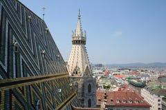 A skyline de Viena imagem de stock