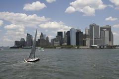 Skyline de Wall Street Imagem de Stock