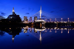 Skyline de Winnipeg Fotografia de Stock