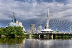 Skyline de Winnipeg Foto de Stock Royalty Free