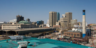 Skyline de Winnipeg em Manitoba, Canadá Imagem de Stock Royalty Free