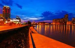 Skyline de Yekaterinburg da cidade de Ural do russo na noite do verão Fotos de Stock Royalty Free