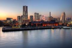 Skyline de Yokohama, Japão Imagens de Stock Royalty Free