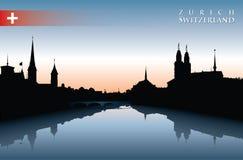 Skyline de Zurique ilustração royalty free