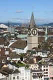 Skyline de Zurique Fotografia de Stock Royalty Free