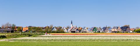 Skyline Den Hoorn Texel the Netherlands stock photography