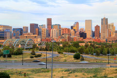 Skyline of Denver in Colorado, USA. Denver is the most populous city in Colorado Royalty Free Stock Images
