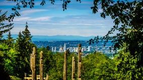 Skyline der Stadt von Burnaby stockfoto
