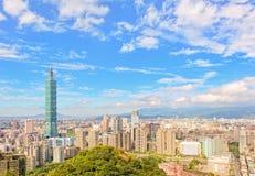 Skyline der Taipeh-Stadt Stockfoto