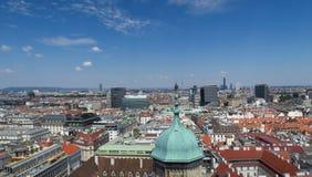 Skyline des ersten Bezirkes in Austrias-Hauptstadt Wien Lizenzfreie Stockfotografie