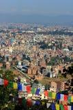 Skyline des Kathmandu Valley Stockfotografie