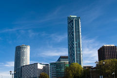 Skyline des modernen Teils von Liverpool Stockfoto
