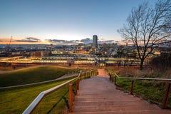 Skyline des Sheffield-Stadtzentrums, South Yorkshire, England Großbritannien stockfotos
