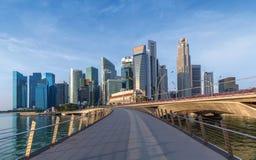 Skyline des Singapur-Geschäftsgebiets lizenzfreie stockfotografie
