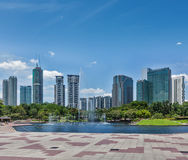 Skyline des zentralen Geschäftsgebiets von Kuala Lumpur Lizenzfreies Stockbild